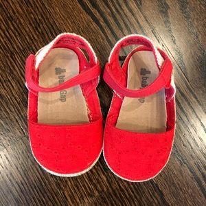 Baby Gap Red Espadrille Santa's size 12-18m